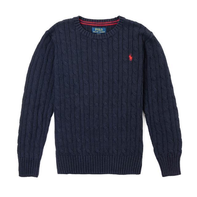 【RALPH LAUREN】雙11獨家特談 Polo Ralph Lauren 刺繡小馬麻花針織毛衣-青年款-多色組合(平輸品)